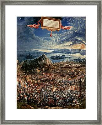 The Battle Of Issus Framed Print by Albrecht Altdorfer