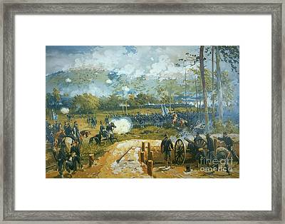 The Battle Of Kenesaw Mountain Framed Print