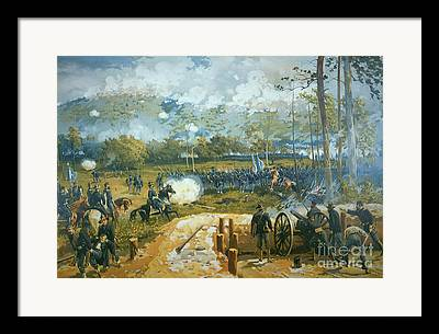 The Battle Of Kenesaw Mountain Framed Prints