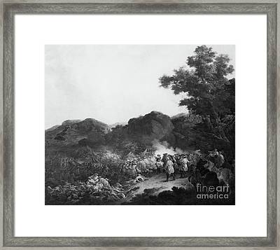 The Battle Of Lens Framed Print by Francesco Giuseppe Casanova