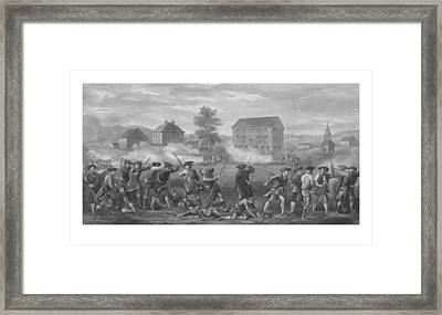 The Battle Of Lexington Framed Print