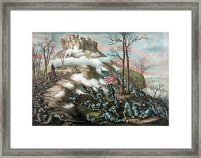 The Battle Of Lookout Mountain  Framed Print by War Is Hell Store