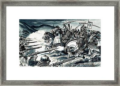 The Battle Of Nagashino In 1575 Framed Print