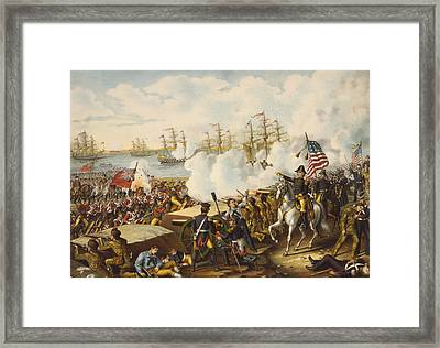 The Battle Of New Orleans, January 8 Framed Print by Vintage Design Pics