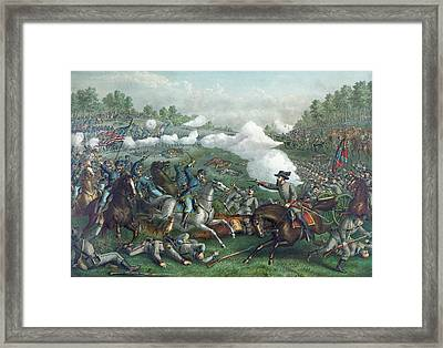 The Battle Of Opequan Framed Print by American School