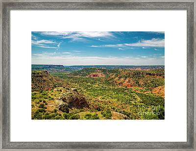 The Battle Of Palo Duro Canyon Framed Print by Jon Burch Photography