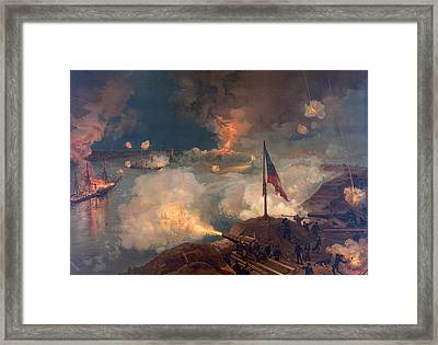 The Battle Of Port Hudson, 1863  Framed Print by American School