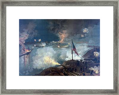 The Battle Of Port Hudson - Civil War Framed Print by War Is Hell Store