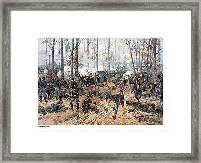 The Battle Of Shiloh Framed Print