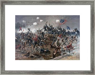 The Battle Of Spotsylvania Court House - Civil War Framed Print by War Is Hell Store