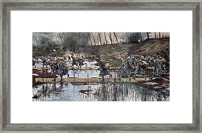 The Battle Of The Yser In 1914 Framed Print by Francois Flameng