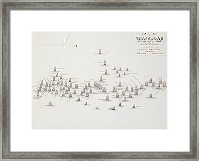 The Battle Of Trafalgar Framed Print