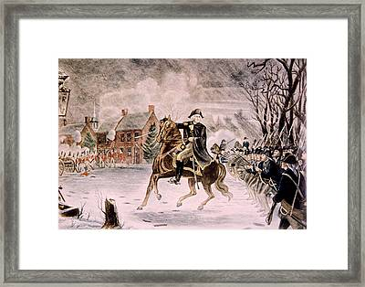 The Battle Of Trenton, General George Framed Print by Everett