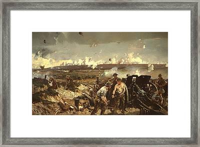 The Battle Of Vilmy Ridge Framed Print