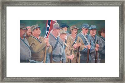 The Battle Of Wilson's Store Framed Print by Diane Caudle