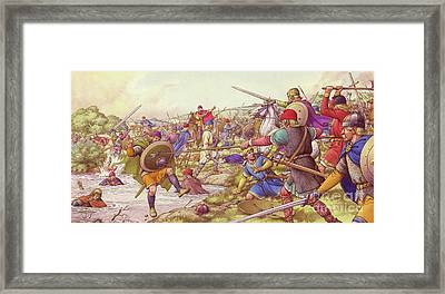 The Battle Of Winwaed  Framed Print by Pat Nicolle