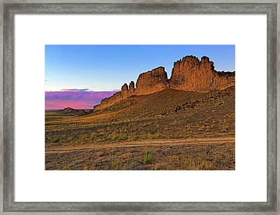 The Battlements Of Shiprock - New Mexico - Landscape Framed Print by Jason Politte