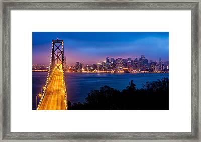 The Bay Bridge Framed Print by Alexis Birkill