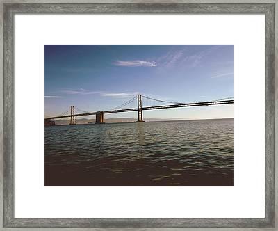 The Bay Bridge- By Linda Woods Framed Print by Linda Woods
