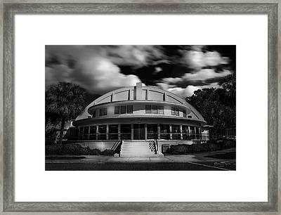 The Bay Front Community Center Bw Framed Print