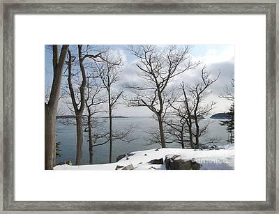 The Bay In Winter Framed Print by Faith Harron Boudreau
