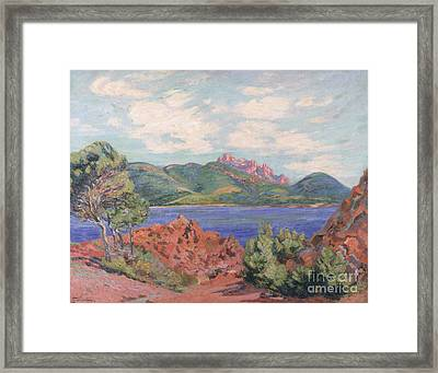 The Bay Of Agay Framed Print by Jean Baptiste Armand Guillaumin