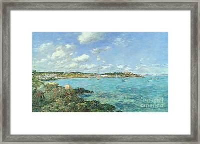 The Bay Of Douarnenez Framed Print by Eugene Louis Boudin