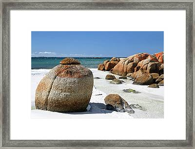Framed Print featuring the photograph The Bay Of Fires by Nicholas Blackwell