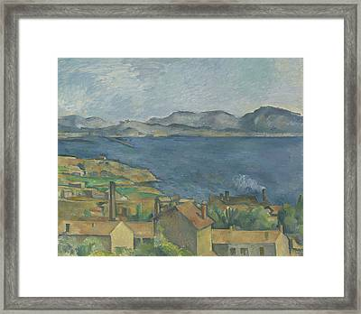 The Bay Of Marseille Framed Print by Paul Cezanne