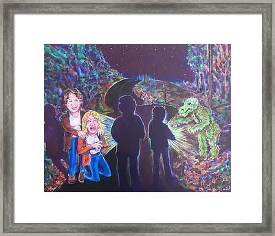 The Bay Road Swamp Monster Framed Print