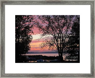 The Bay Framed Print by Susan Parsley
