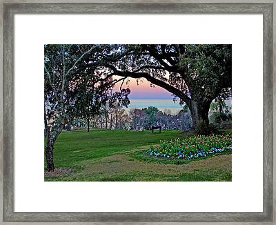 The Bay View Bench Framed Print