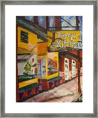 The Bayou Kitchen Framed Print