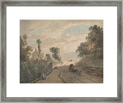The Bayswater Turnpike Framed Print by Paul Sandby