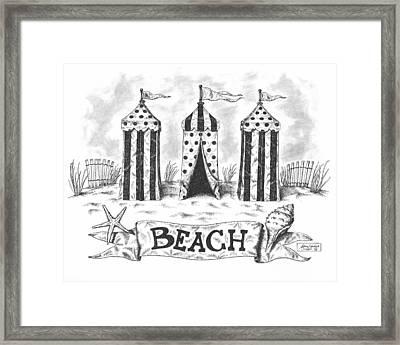 The Beach Framed Print by Adam Zebediah Joseph