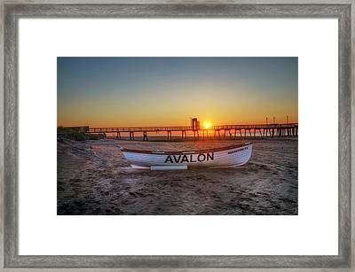 The Beach At Avalon 32nd Street Framed Print by Bill Cannon