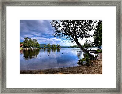 Framed Print featuring the photograph The Beach At Covewood Lodge by David Patterson