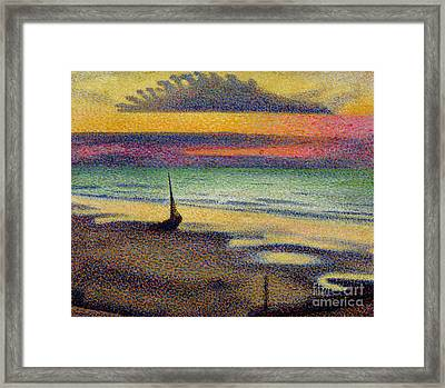 The Beach At Heist Framed Print by Georges Lemmen