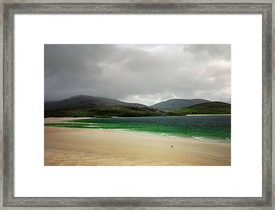 The Beach At Luskentyre, Isle Of Harris, Outer Hebrides, Scotland. Storm Clearing Framed Print by David Lyons