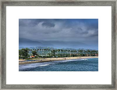 The Beach At Santa Barbara Framed Print by Steven Ainsworth