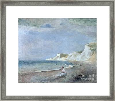 The Beach At Varangeville Framed Print by Renoir