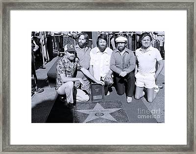 The Beach Boys At Their Walk Of Fame Ceremony, Hollywood Ca Framed Print