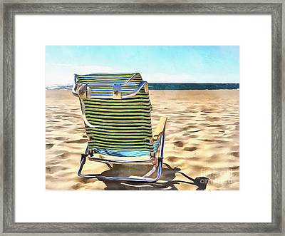 The Beach Chair 2 Framed Print by Edward Fielding