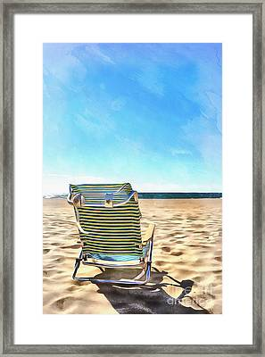 The Beach Chair Framed Print