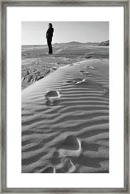 The Beach Comber Framed Print