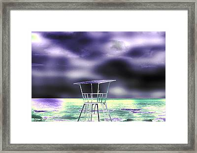The Beach Electric. Framed Print by Abstract Angel Artist Stephen K