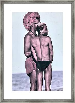 The Beach Framed Print by Gillis Cone