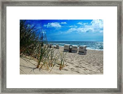 The Beach Framed Print by Hannes Cmarits
