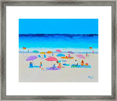 The Beach Holiday Framed Print by Jan Matson