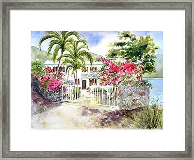 The Beach House Framed Print